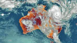 cyclone Yasi satellite image